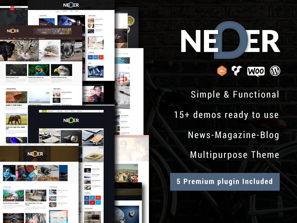 Neder WordPress blog template