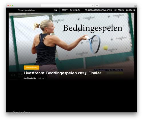 Newspaper premium WordPress theme - tennisportalen.se