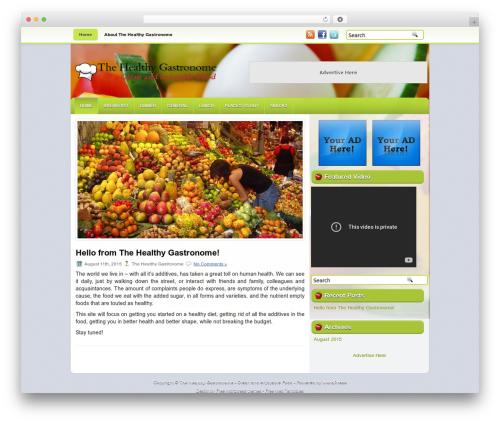 OrganicFood food WordPress theme - thehealthygastronome.com