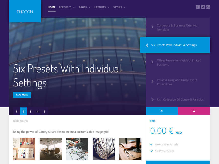 Photon WordPress theme