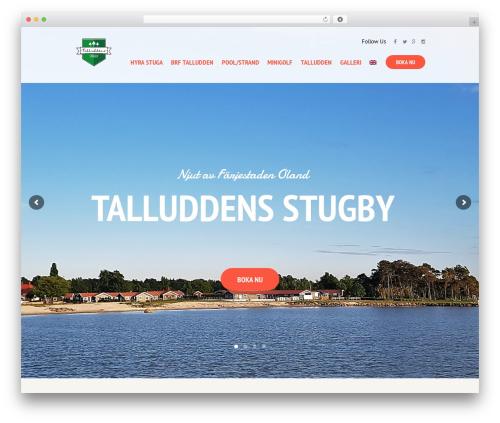 SevenHills WordPress theme design - talludden.nu