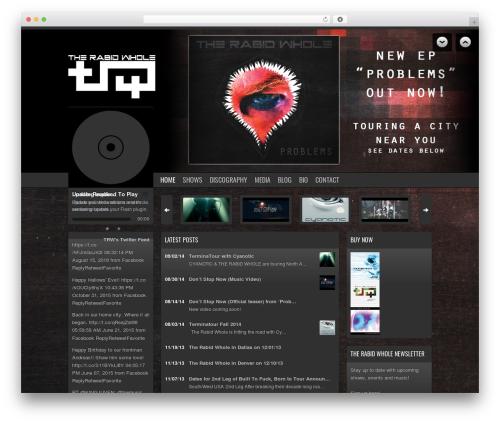 Soundcheck template WordPress - therabidwhole.com