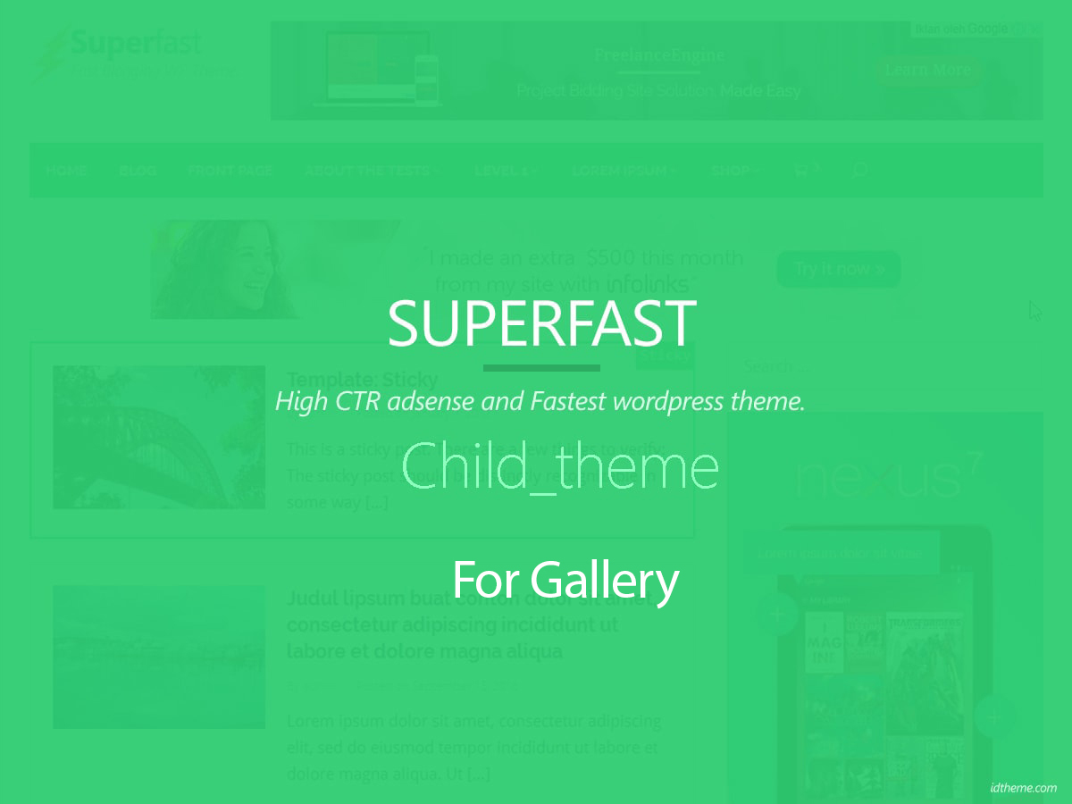 Superfast Gallery Child WordPress theme image