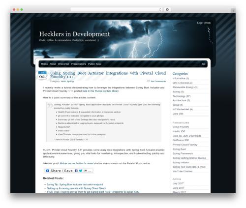 Theme WordPress BlueMoD - thehecklers.org