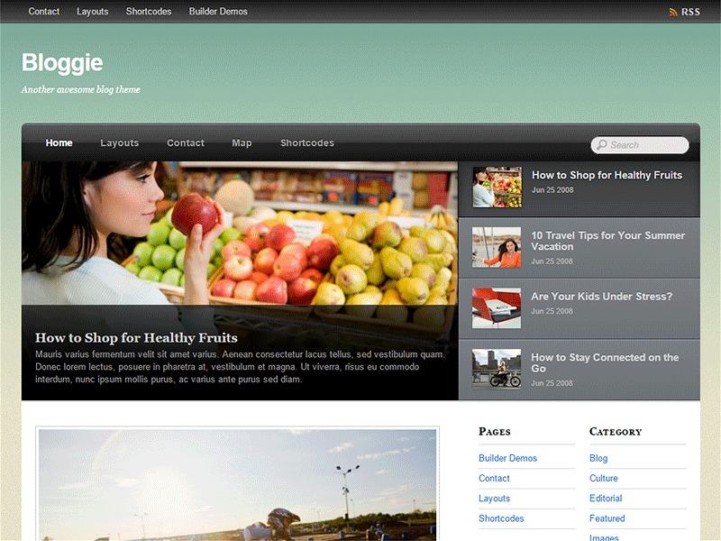 Themify Bloggie WordPress blog template