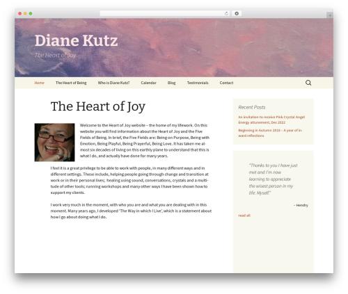 Twenty Thirteen WordPress template free download - theheartofjoy.com