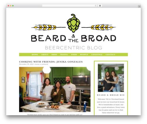 WordPress theme Beard and the Broad - thebeardandbroad.com