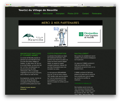 WordPress theme Swatch - tourduvillagedeneuville.com