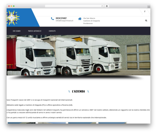 WordPress theme Transport - trasportisara.it