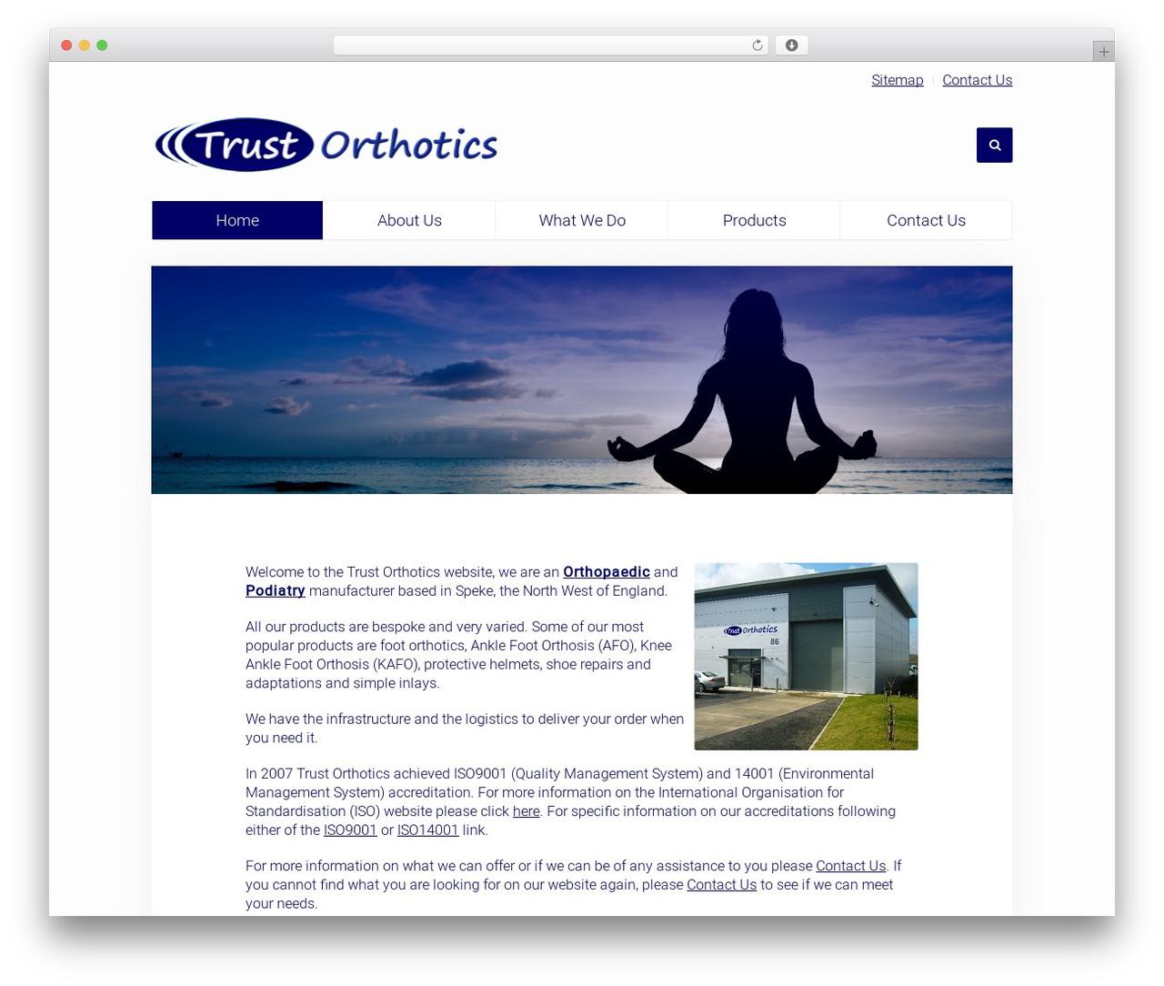 WordPress theme Unity - trustorthotics.com