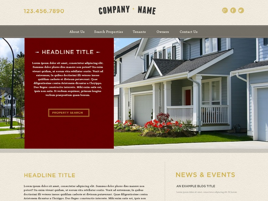 WordPress website template AppFolio Mainstreet Theme