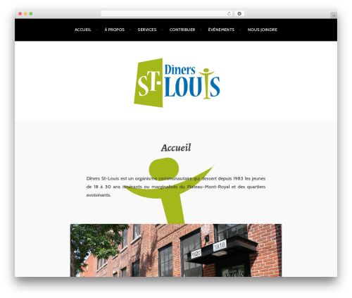 Argent best free WordPress theme - diners-st-louis.org