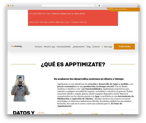 Avada premium WordPress theme - apptimizate.es