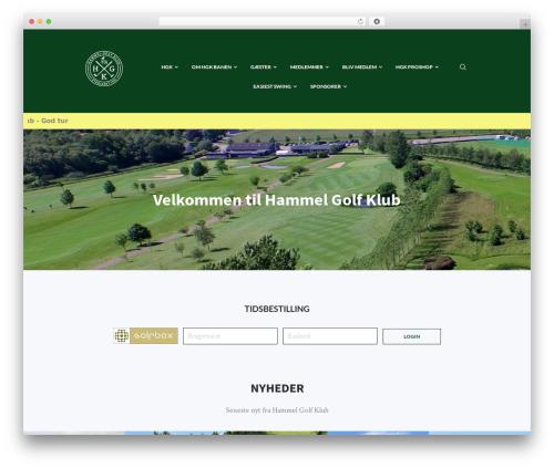 Best WordPress template N7 Golf Club - hammelgolfklub.dk