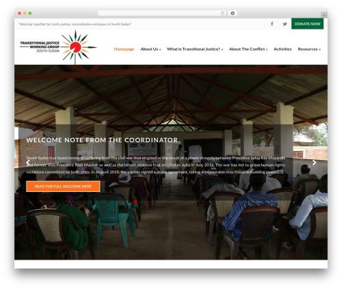 Charity Child Theme best WordPress theme - tjwgsouthsudan.org