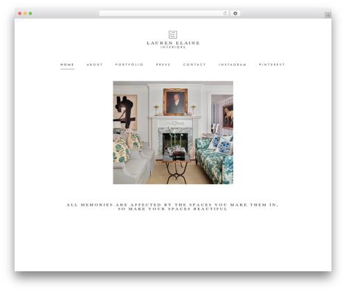 Chester WordPress theme - laurenelaineinteriors.com