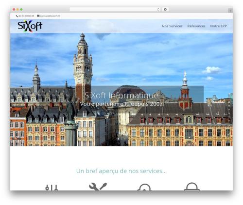 Divi theme WordPress - sixoft.fr