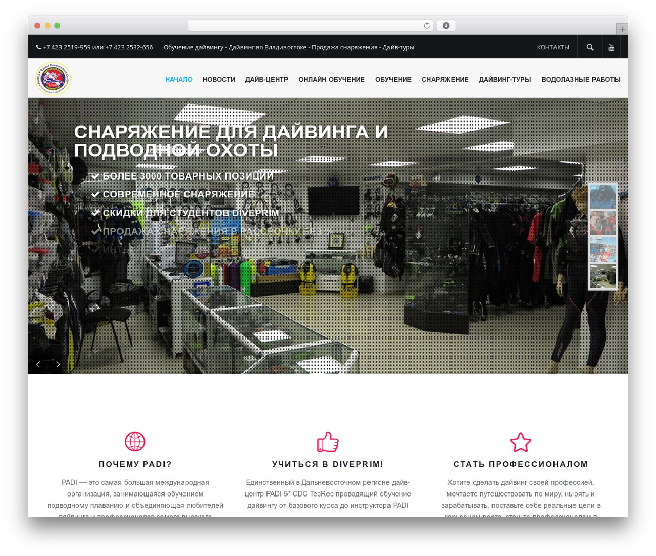 Elite WordPress theme - diveprim.ru