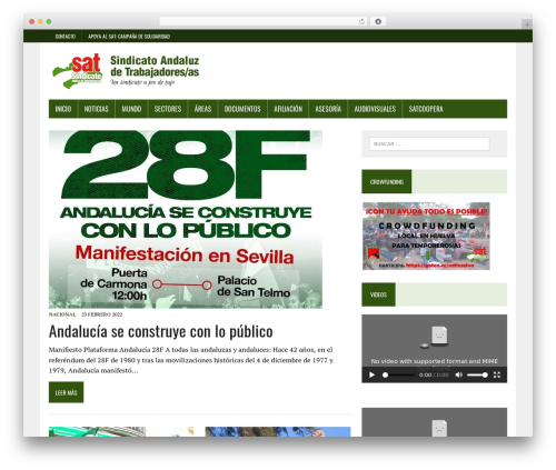 MH Newsdesk lite template WordPress free - sindicatoandaluz.info