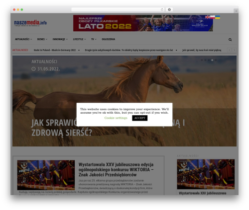 Newspeak newspaper WordPress theme - naszemedia.info