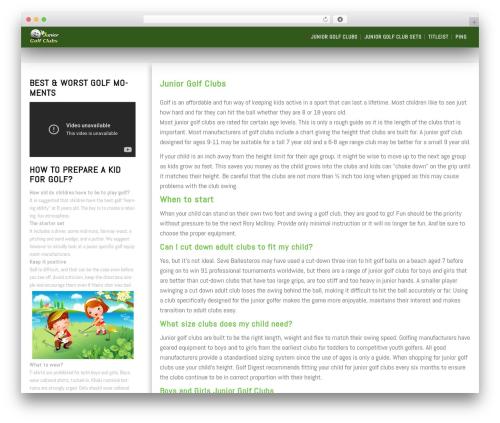 SG Diamond WordPress theme free download - juniorgolfclubs.org