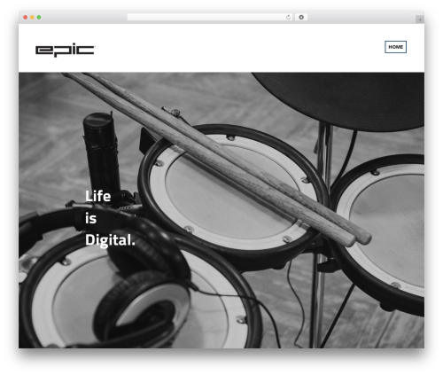 Sonorama WordPress page template - e-drums.org