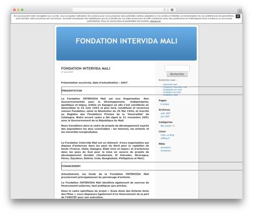 Thème par défaut template WordPress - intervidamali.unblog.fr