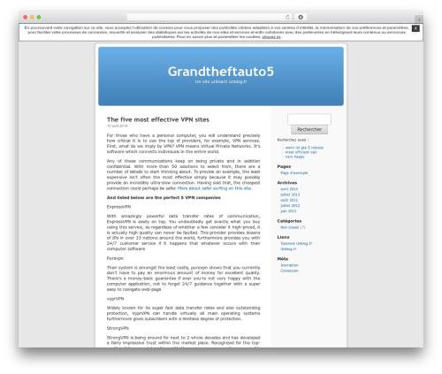 Thème par défaut WordPress theme - grandtheftauto5.unblog.fr