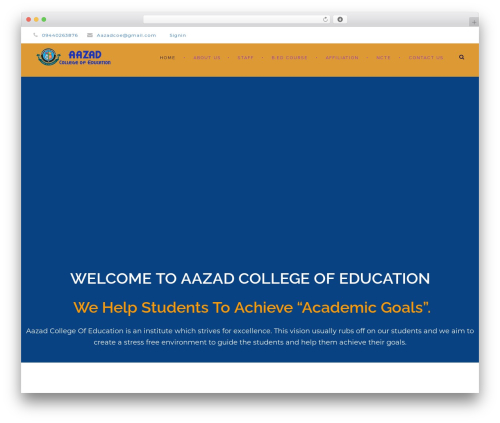 Theme WordPress Clever Course - aazadcollege.org