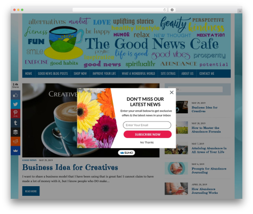 Theme WordPress MH Newsdesk lite - thegoodnewscafe.net