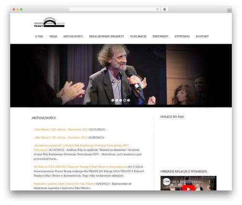 Trias WordPress website template - prawybrzeg.org
