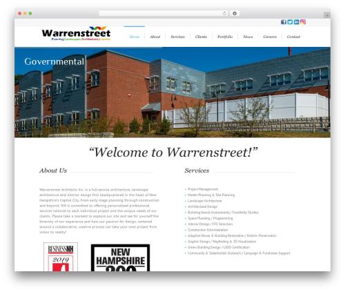 WordPress template Lounge - warrenstreet.coop