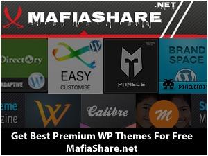 WordPress template SoundWave (Shared on www.MafiaShare.net)