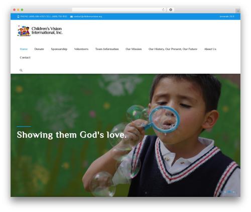 WordPress theme i-spirit - childrensvision.org