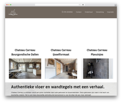 WordPress website template Marketers Delight - chateaucarreau.nl