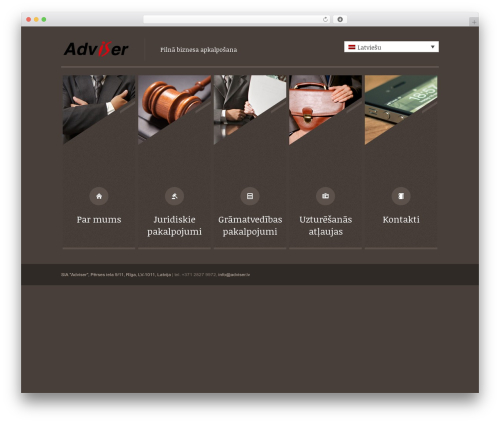 WP template Themis - Law Lawyer Business WordPress Theme - adviser.lv