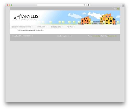 ZeroGravity free WordPress theme - amaryllis-bonn.de