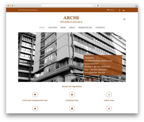 Dejure business WordPress theme - arche-lex.net