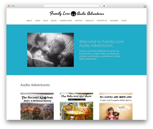 Divi WordPress theme - audioadventures.org