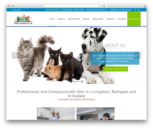 Enfold WordPress website template - rsvets.co.uk