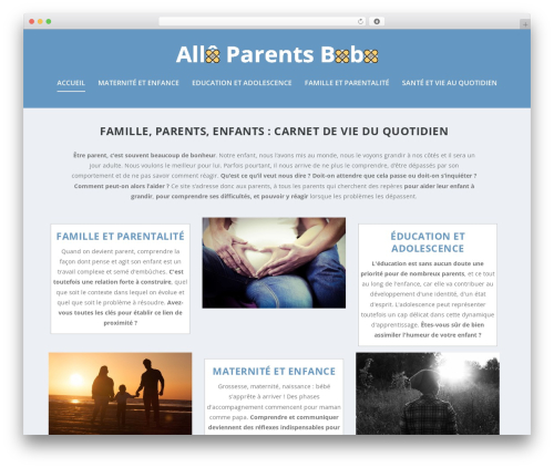 Extra WordPress page template - alloparentsbobo.be