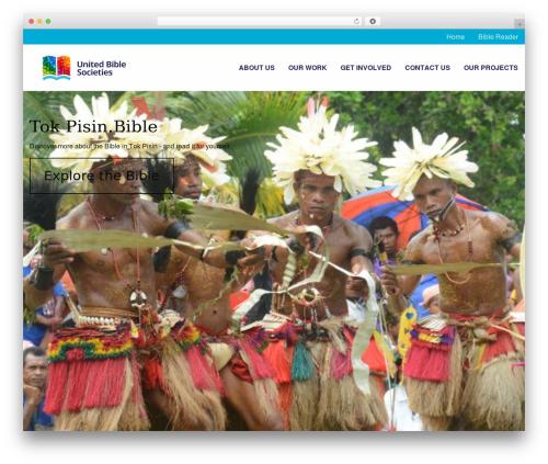 Global Web Swift WordPress theme - tokpisin.bible