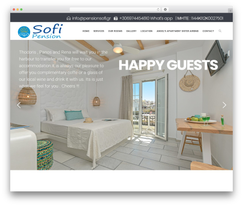 Hotella WordPress hotel theme - pensionsofi.gr