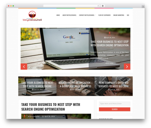 LiveBlog business WordPress theme - bicyclecouncil.org