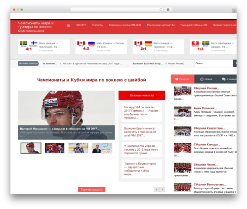 Magazine newspaper WordPress theme - hockey-chm2016.ru