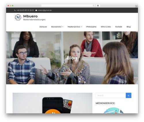 Meilleur Business company WordPress theme - medienbuero.biz