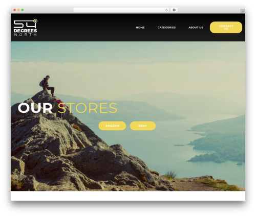 Oxygen Theme WordPress page template - 54degrees-north.co.uk