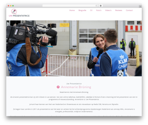 Presentatrice WordPress movie theme - uwpresentatrice.nl