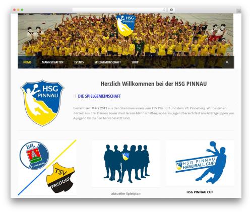 Real Soccer best WordPress theme - hsg-pinnau.de