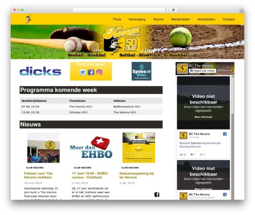 Redesign Sportlinkclubsites WordPress theme - herons.nl